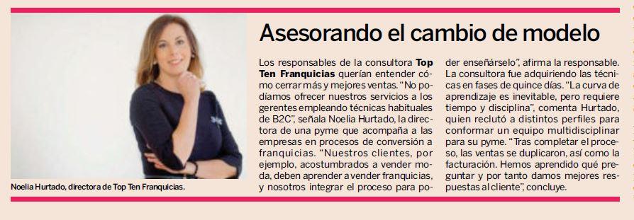 Top Ten Franquicias en el diario Expansión